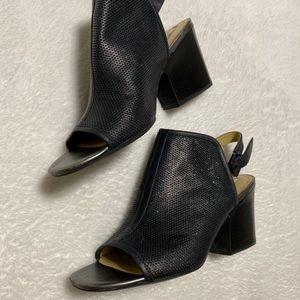 Geox sparkle peeptoe ankle boots